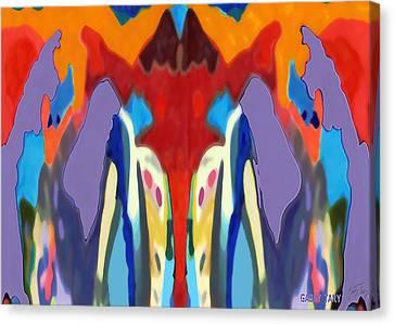 Purple Hoodies Canvas Print