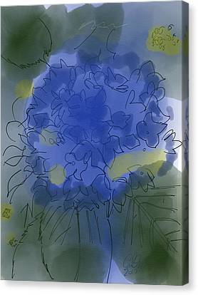 Purple Hydrangea Canvas Print by Carl Griffasi