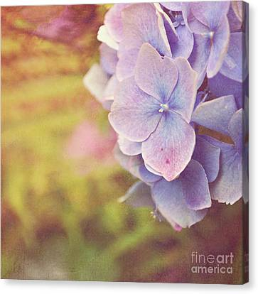Canvas Print featuring the photograph Purple Hydrangea by Lyn Randle
