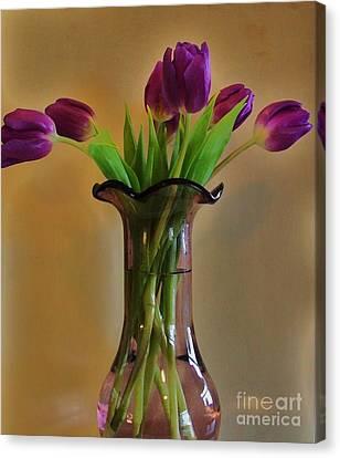 Purple In Purple Canvas Print by Marsha Heiken