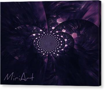 Canvas Print featuring the photograph Purple Intrigue by Miriam Shaw