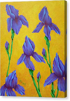 Purple Iris Canvas Print by Pamela Allegretto