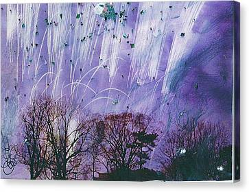 Purple Is The Color Of My True Love's Air Canvas Print by Anne-Elizabeth Whiteway