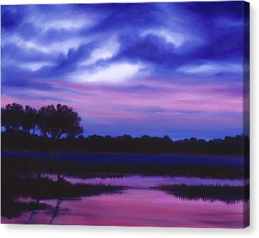 Purple Landscape Or Jean's Clearing Canvas Print by James Christopher Hill