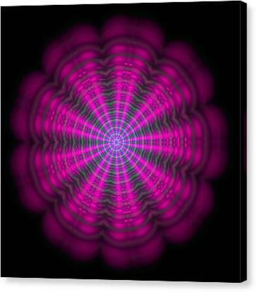 Purple Lightmandala Ripples Canvas Print