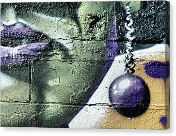 Purple Lips And Earring Canvas Print