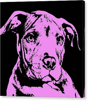 Purple Little Pittie Canvas Print