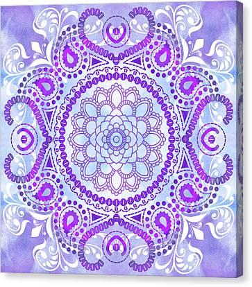 Purple Lotus Mandala Canvas Print by Tammy Wetzel