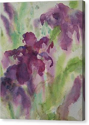 Canvas Print featuring the painting Purple Magic by Sandy Collier