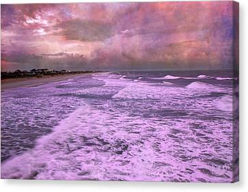 Purple Majesty  Canvas Print by Betsy Knapp