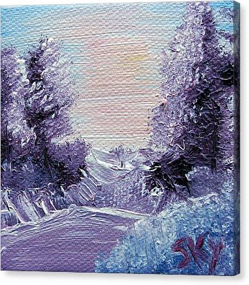 Purple Majesty Landscape Canvas Print by Jera Sky