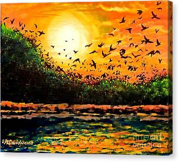 Purple Martin Migration Canvas Print by Patricia L Davidson