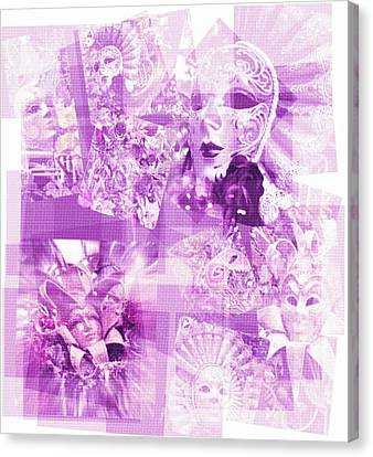 Purple Mask Craziness Canvas Print