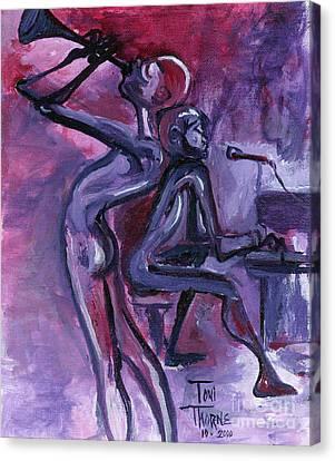 Purple Mood Canvas Print by Toni  Thorne