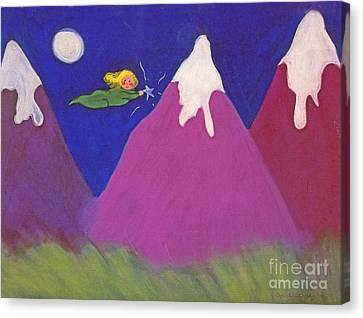 Purple Mountains Majesty Canvas Print by Christine Crosby