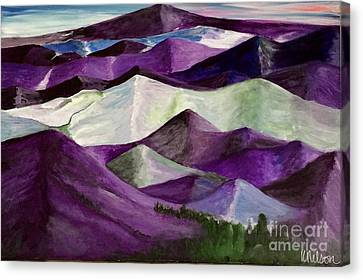 Canvas Print featuring the painting Purple Mountains Majesty by Kim Nelson