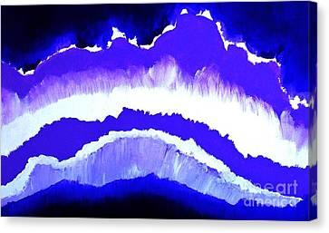 Purple Mountains Majesty Canvas Print by Marsha Heiken