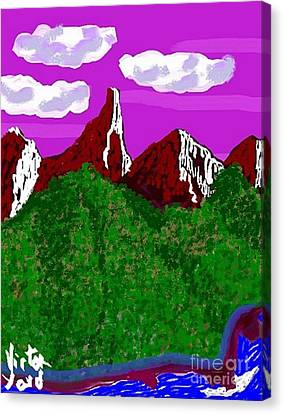 Purple Mountains Majesty Canvas Print by Victor Yard