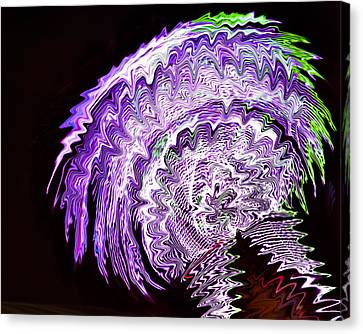 Canvas Print featuring the photograph Purple Mushroom by Linda Constant