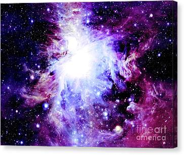 Purple Nebula Canvas Print
