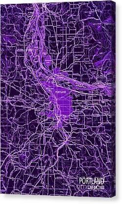 Antique Map Canvas Print - Purple Old Map Of Denver by Pablo Franchi