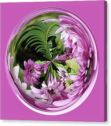 Canvas Print featuring the photograph Purple Orb by Bill Barber