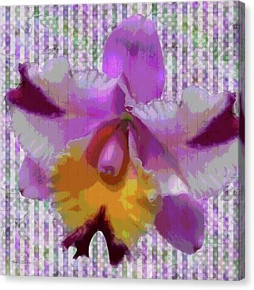 Purple Orchid Design Canvas Print by Rosalie Scanlon