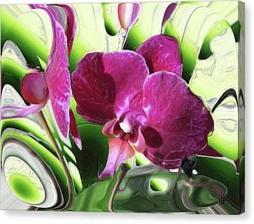 Purple Orchid Canvas Print by Hai Pham