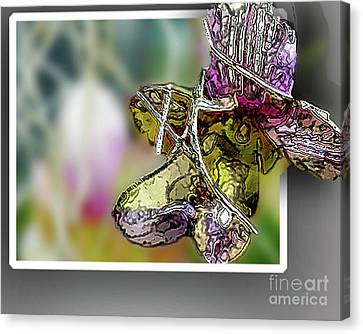 Purple Orchid Pop Canvas Print