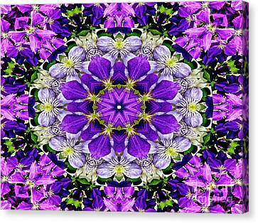 Purple Passion Floral Design Canvas Print