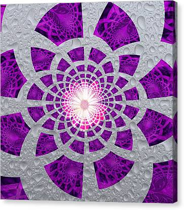Canvas Print featuring the digital art Purple Patched by Amanda Eberly-Kudamik