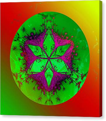 Purple Pentagram Canvas Print by Brigita Tekavcic