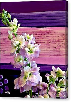 Purple Purple Everywhere Canvas Print by Marsha Heiken
