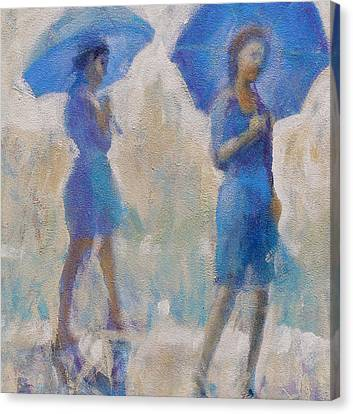 Purple Rain Canvas Print by Gertrude Palmer