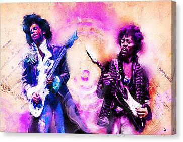 Purple Rain Meets Purple Haze Canvas Print
