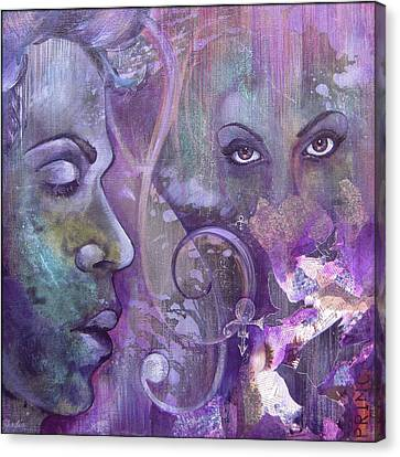 Purple Rain Canvas Print by Shadia Derbyshire