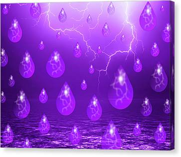 Rest In Peace Canvas Print - Purple Rain by Shane Bechler