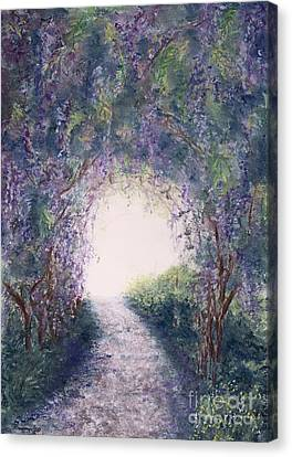 Canvas Print featuring the painting Purple Rain by Stanza Widen