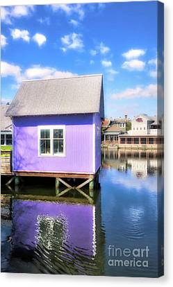Canvas Print featuring the photograph Purple Reflections by Mel Steinhauer