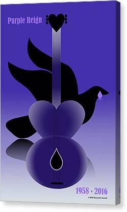 Purple Reign 1958-2016 Canvas Print