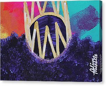 Pink Lipstick Canvas Print - Purple Reign  by Aliya Michelle