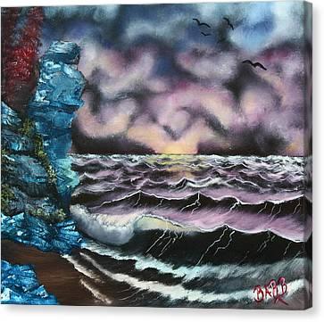 Purple Rising Canvas Print by Barbara Teller