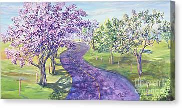 Purple Road - Springtime Canvas Print by Malanda Warner