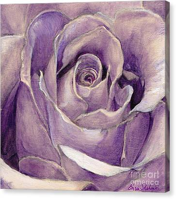 Purple Rose Canvas Print by Enzie Shahmiri