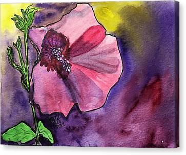 Purple Shadows Canvas Print