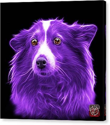 Purple Shetland Sheepdog Dog Art 9973 - Bb Canvas Print