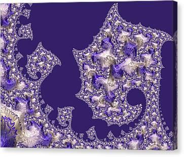 Purple Silk Canvas Print by Susan Maxwell Schmidt