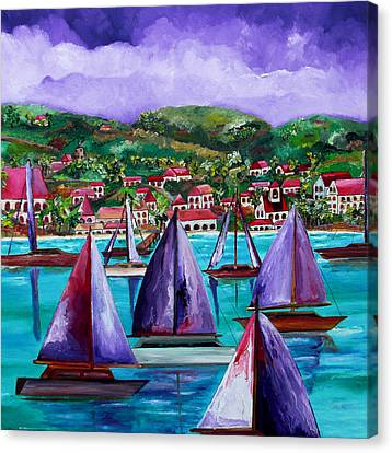 Purple Skies Over St. John Canvas Print by Patti Schermerhorn
