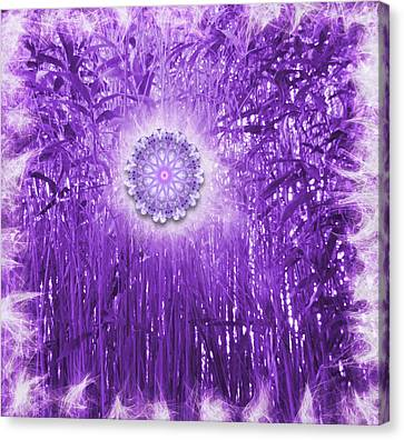 Spirit And Nature In Purple Canvas Print