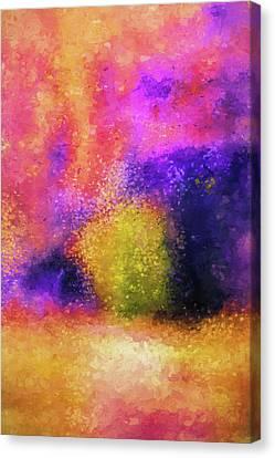 Purple Spring Impressionist Landscape Painting Canvas Print by Jai Johnson